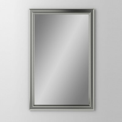 """Main Line 19.25"""" x 39.38"""" Recessed Medicine Cabinet Orientation: Right Hand, Finish: Brushed Nickel"""