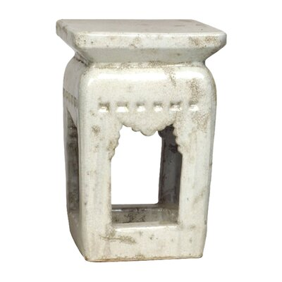 Ming Garden Stool Finish: White
