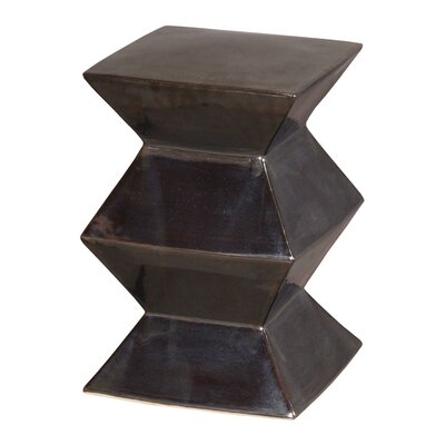 Accent Stool Finish: Metallic Black
