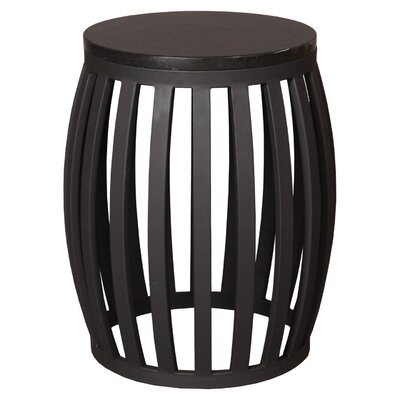 Meridian Accent Stool Finish: Black