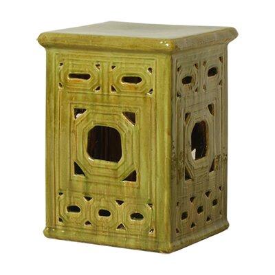 Lattice Square Frame Garden Stool Finish: Mossy Yellow Green