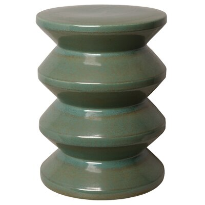 Dameron Accordion Garden Stool Color: Green