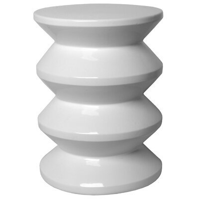 Dameron Accordion Garden Stool Color: White