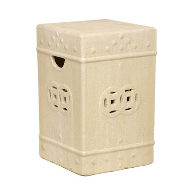 Charleson Square Ceramic Fortune Garden Stool Finish: Champagne