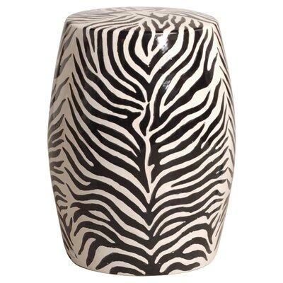 Zebra Garden Stool