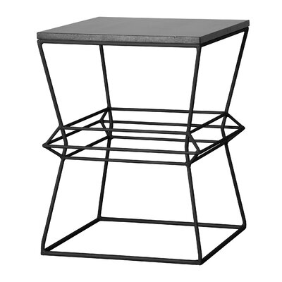 Vector Metal/Granite Accent Stool Finish: Black