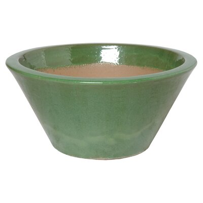 Ceramic Pot Planter Color: Green, Size: Xtra Large