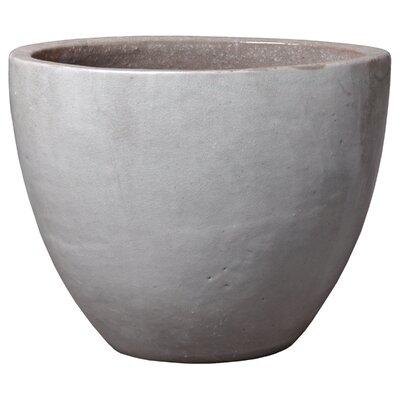 "Oval Ceramic Pot Planter Size: 18"" H x 22"" W x 16"" D"