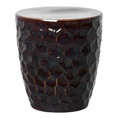 Honeycomb Garden Stool Finish: Black