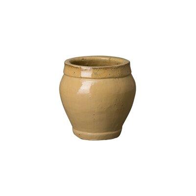 "Rirdge Ceramic Pot Planter Size: 23"" H X 27"" W X 27"" D"