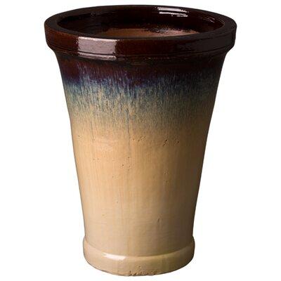 """Trumpet Ceramic Pot Planter Size: 27"""" H x 20"""" W x 20"""" D"""