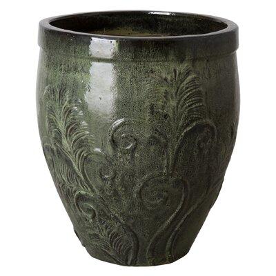 "Fern Ceramic Pot Planter Size: 25"" H x 21"" W x 21"" D"