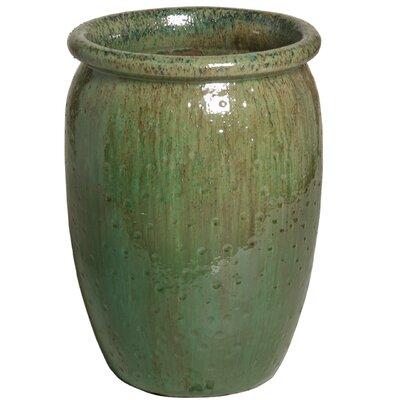 """Texture Ceramic Pot Planter Size: 23"""" H x 16"""" W x 16"""" D"""