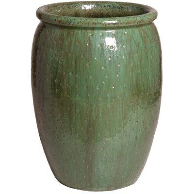 """Texture Ceramic Pot Planter Size: 31"""" H x 23"""" W x 23"""" D"""