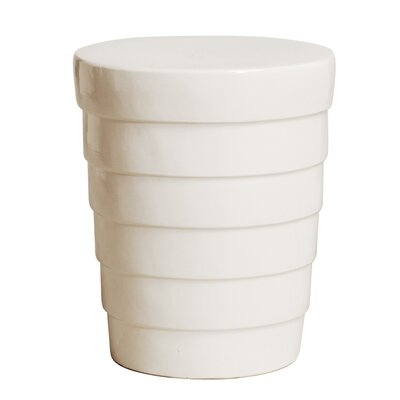 Terrace Garden Stool Color: White