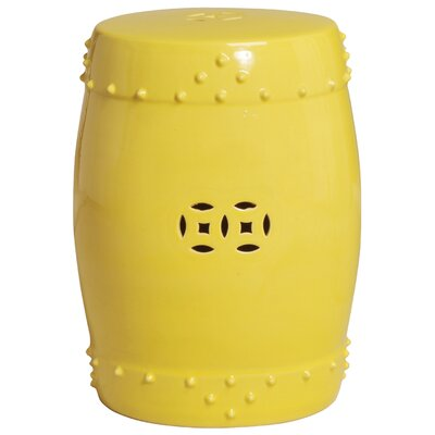 Iona Drum Garden Stool Color: Yellow