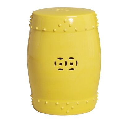 Drum Stool Finish: Yellow