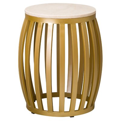 Meridian Accent Stool Finish: Gold
