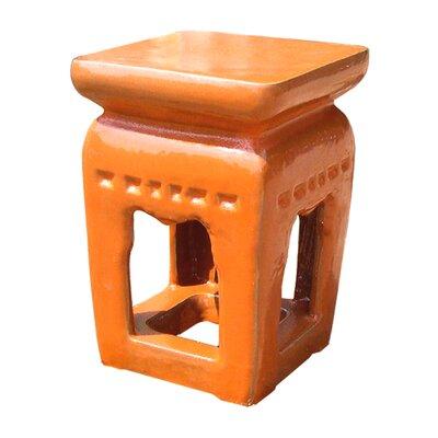 Ming Garden Stool Finish: Orange