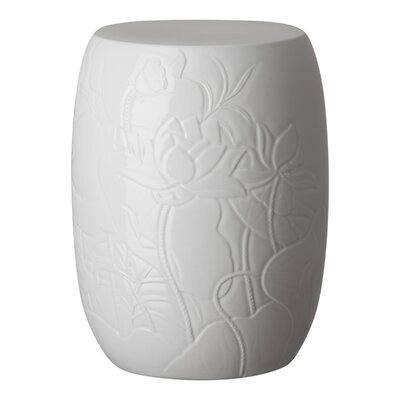 Epstein Lotus Engraved Garden Stool