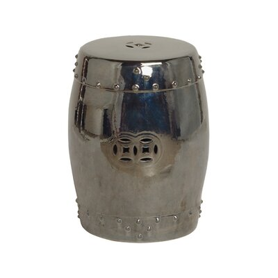 Engelhardt Large Drum Garden Stool Color: Metallic