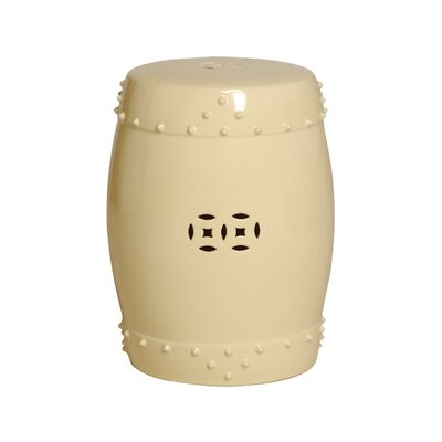 Engelhardt Large Drum Garden Stool Color: Cream