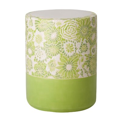 Erhart Garden Stool Color: Green Apple Glaze