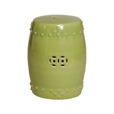 Engelhardt Large Drum Garden Stool Color: Lime