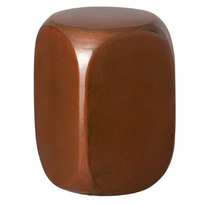 Ricardo Dice Garden Stool Color: Red