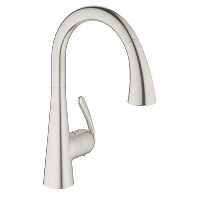 Ladylux Single Hole Kitchen Faucet Finish: Stainless Steel