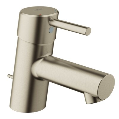 Concetto Single Hole Bathroom Faucet with Drain Assembly Finish: Brushed Nickel