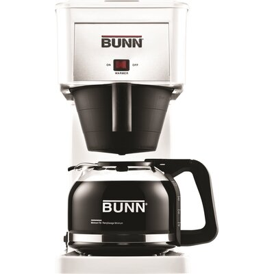 10 Cup Coffee Maker Finish: White