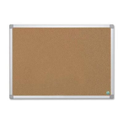 Bi-silque Visual Communication Product, Inc. Mastervision Wall Mounted Bulletin Board, 2' H x 3' W
