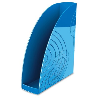 Polystyrene Magazine Rack Color: Ocean Blue