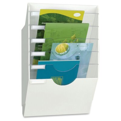Polystyrene Crystal Dividers 6 Compartment Wall Display Rack