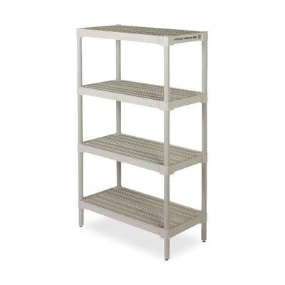 """Ventilates Storage Shelf,36-1/4""""x18-1/8""""x60-1/4"""",Oyster Gray"""