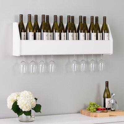 Klatt 18 Bottle Wall Mounted Wine Rack Finish: White