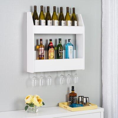 Chancey 24 Bottle Wall Mounted Wine Rack Finish: White