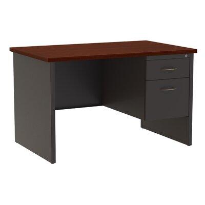 Desk Finish: Charcoal/Mahogany