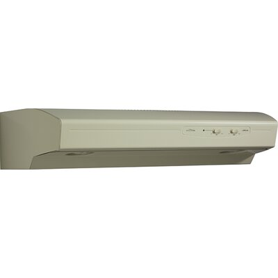 "36"" Allure 220 CFM Convertible Under Cabinet Range Hood Finish: Almond"