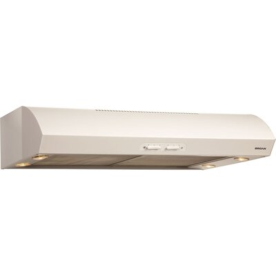 "30"" Evolution 300 CFM Convertible Under Cabinet Range Hood Finish: White"