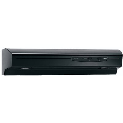 "36"" Allure 220 CFM Convertible Under Cabinet Range Hood Finish: Black"