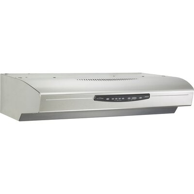"36"" Allure III QS3 430 CFM Convertible Under Cabinet Range Hood Finish: Stainless Steel"