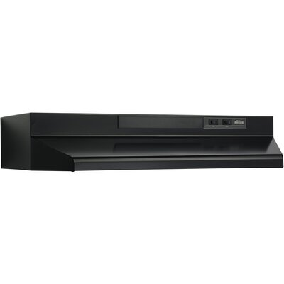 "36"" 190 CFM Convertible Under Cabinet Range Hood Finish: Black"