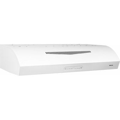 "30"" 350 CFM Convertible Under Cabinet Range Hood Finish: White"