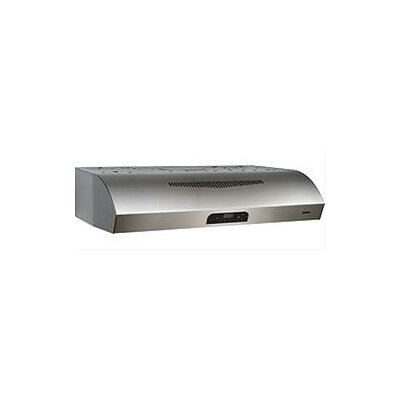 "30"" Evolution 3 Series 450 CFM Convertible Under Cabinet Range Hood Finish: Stainless Steel"