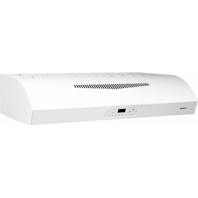 "36"" 450 CFM Convertible Under Cabinet Range Hood Finish: White"