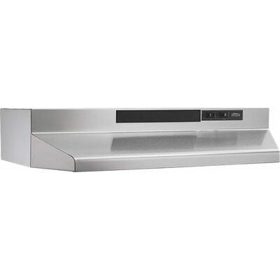 "36"" 190 CFM Convertible Under Cabinet Range Hood Finish: Stainless Steel"