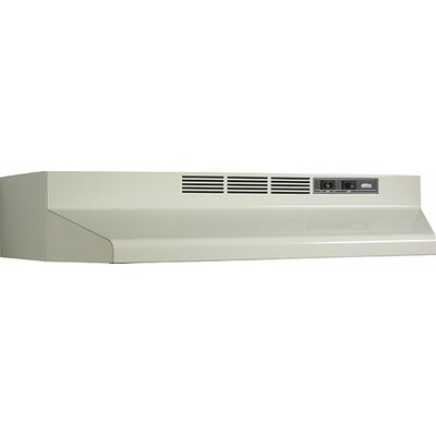 "36""190 CFM Convertible Under Cabinet Range Hood Finish: Bisque"