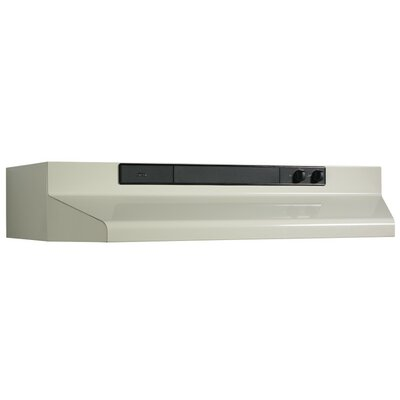 "30"" 220 CFM Convertible Under Cabinet Range Hood Finish: Bisque"